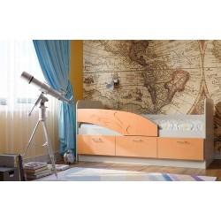 Кровать 06.222 Дельфин оранжевый