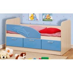 Кровать 06.222 Дельфин голубой