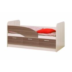 Кровать Дельфин ЛДСП 1600 ясень шимо светлый/темный