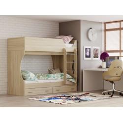 Кровать Д 2 дуб сонома
