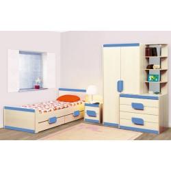 Кровать Лайф-4 голубая