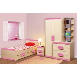 Кровать Лайф-4 розовая