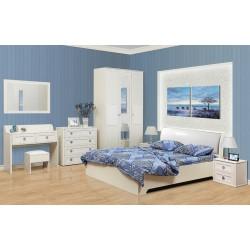 Кровать 06.297 Мона белая