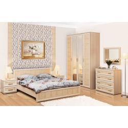 Кровать 06.260 Волжанка кремовая